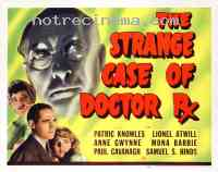 affiche  The Strange case of Doctor Rx 377371