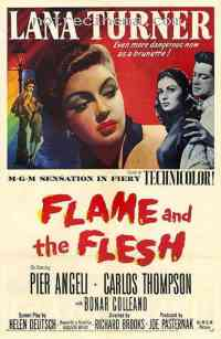 affiche  Flame and the Flesh 380447