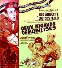 affiche  Deux nigauds d�mobilis�s 137481