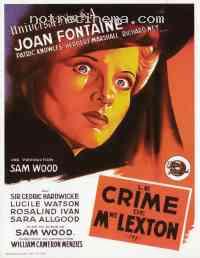 Poster Le Crime de Mme Lexton 179307