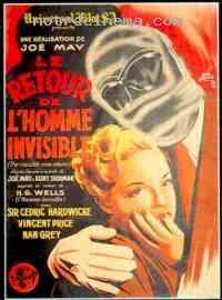 Poster Le Retour de l'homme invisible 207001