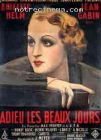 Poster Adieu les beaux jours 230669