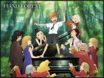 wallpapers Piano Forest