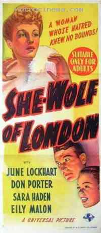 affiche  She-Wolf of London 290689
